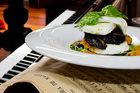 Toto's mozzarella entree with grilled vegetables. Photo / Babiche Martens