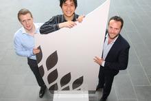 EcoFibre's (from left) Oliver McGregor, Shaun Tan and Carl Jones. Photo / Chris Gorman