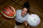Maia Wilson, 15, played in her school's top teams at national final level for both netball and basketball. Photo / Sarah Ivey