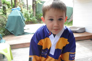 Young Elliott Crimp is lucky to be alive after a near-fatal brush with the deadly meningococcal C. Photo / Bay of Plenty Times