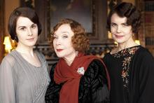 Screen legend Shirley MacLaine, centre, joins Downton Abbey as Lady Cora's mother. Photo / Supplied