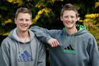Josh (left) and Zac Lyon leave for Antarctica next year. Photo / Christine Cornege