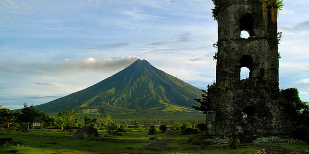 Mt Mayon's symmetrical cone invites energetic climbers. Photo / Supplied