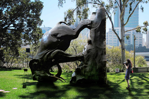 The artist's impression of the controversial sculpture. Photo / supplied