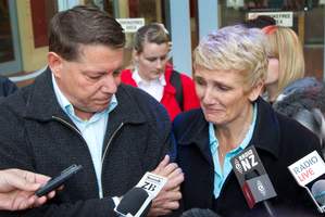 Brian and Tracey Marceau outside the High Court at Auckland yesterday.  Photo / Sarah Ivey