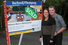 Rachael Wilson and Ryan Page bought their first home using Kiwisaver funds. Photo / Supplied