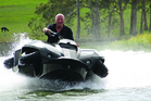 Alan Gibbs' company has spent $200 million and 15 years developing amphibian technology for the Quadski. Photo / Supplied