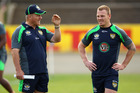 Tim Sheens (left) says there will be no danger of any Kangaroos player missing the start of next season after Saturday's bruising match with the Kiwis. Photo / Getty Images