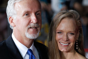Hollywood director James Cameron and Suzy Amis, his fifth wife. Cameron reckons he can never resist an upgrade. Photo / AP