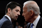 A combative Joe Biden (right) showed his boss how to get things done in his debate against the inexperienced Paul Ryan. Photo / AP