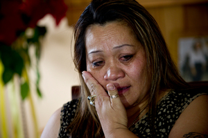 Ivoni Fuimaono, mother of Halatau Naitoko, mistakenly shot dead by police in 2009. Photo / Dean Purcell