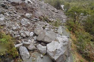 The Milford Road was hit by a series of slips after the rough weather last week. Photo / supplied