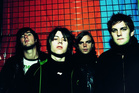 Craig Nicholls, second from left, lead singer of the Vines, has been arrested. Photo / File