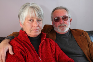 Faye and Ron Bishop, the mother and step-father of murdered man Dean Browne. Photo / Herald on Sunday