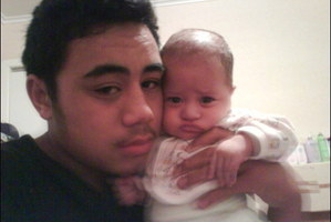 Halatau Naitoko, shown with his baby Stephanie, was shot dead in 2009.