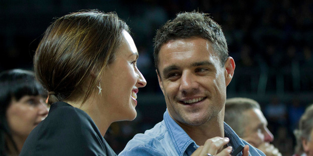 All Black Dan Carter and his wife, Honor. Photo / Sarah Ivey