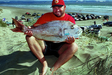 Rob Parker with his winning snapper.