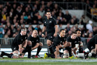 Piri Weepu leads the 2012 team in the haka. Picture / Richard Robinson