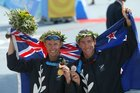 Hamish Carter (left) and Bevan Docherty have led the way for New Zealand's triathletes.Photo / NZ Herald