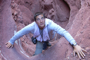 Bear Grylls will find you if you've been living under a rock. Photo / Supplied