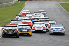 V8 SuperTourers field at Hampton Downs. Photo / V8 SuperTourers