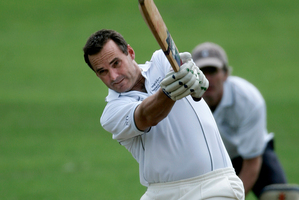 Former New Zealand cricketer Bryan Young in action at a Masters Cricket tournament in 2007. File photo / Chris Skelton