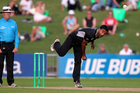Bent-arm bowling a good thing. Photo / Glenn Taylor