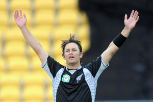 Shane Bond in action for the Black Caps in 2010. File photo / NZPA