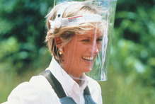 Princess Diana campaigned against landmines in Angola in 1997. Photo / Supplied 