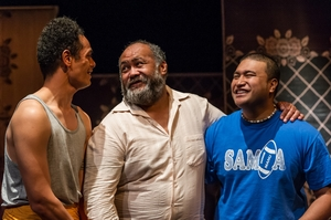 Taofia Pelesasa (Vili, left), Dave Fane (Vili's father) and Troy Tu'ua (Sione). Photo / Michael Smith