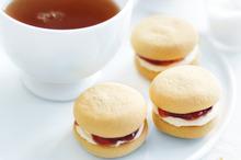 Vanilla and jam biscuits. Photo / William Meppem