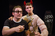 The partnership between Potted Potter actors Gary Trainor (left) and Jesse Briton works because they have an off-the-cuff relationship.  Photo / Robert Workman