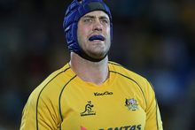 Nathan Sharpe thinks the Wallabies were at their best, traditionally, when they are cornered or  written off. Photo / Getty Images.