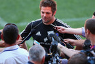 All Black captain Richie McCaw talks to media ahead of tonight's test. Photo / Getty Images