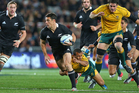 Dan Carter in action during the All Blacks' 22-0 win over Australia in their last encounter at Eden Park. Photo / Getty Images