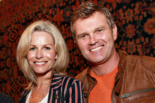 Martin Crowe with his wife, former Miss Universe, Lorraine Downes. Photo / Norrie Montgomery