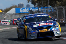 Mark Winterbottom and Richard Lyons shared the FPR Falcon on the Gold Coast last year. Photo / Getty Images