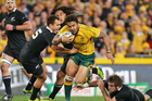 Digby Ioane is in doubt for Saturday's Bledisloe Cup clash. Photo / Getty Images