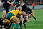 The All Blacks wrapped up the Bledisloe Cup series with a convincing win at Eden Park. Photo / Richard Robinson