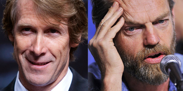 Director Michael Bay, left, and actor Hugo Weaving. Photo / AP