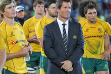Robbie Deans and the Wallabies are facing a huge task to match the All Blacks this weekend. Photo / Getty Images
