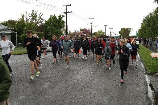 The 10km Times-Age fun run gets underway.