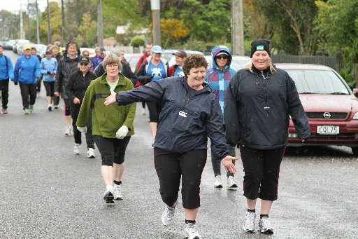 Runners enjoying the exercise during the 10km TA fun run.