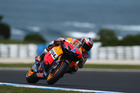 Casey Stoner of Australia rides the #1 Repsol Honda Team Honda during practice for the Australian MotoGP. Photo / Getty Images