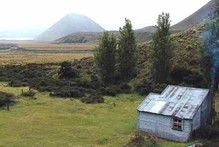 Double Hut is a former musterers' hut dating back to the early 1900s. Photo / Ashburton Guardian
