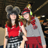 People pose for photos at the Armageddon Expo 2012. Photo / NZ Herald