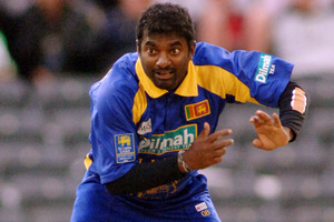 With 800 test wickets, which dwarfs the combined total of New Zealand's entire bowling outfit, it is natural to court the advice of Sri Lankan spinner Muttiah Muralitharan. Photo / Ross Setford