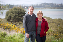 Tony Hayman and Jan Hilliam on the Millwater section of the estuary walk overlooking the Orewa River. Photo / Natalie Slade