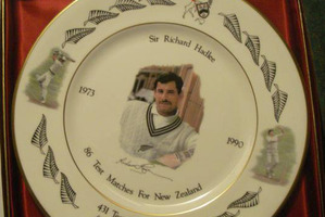 The Hadlee collectible plates should bring in $225,000. Photo / Supplied