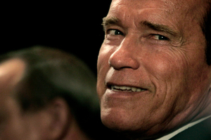 Arnold Schwarzenegger is lookign to return as Conan, the role that first made him famous. File photo / AP